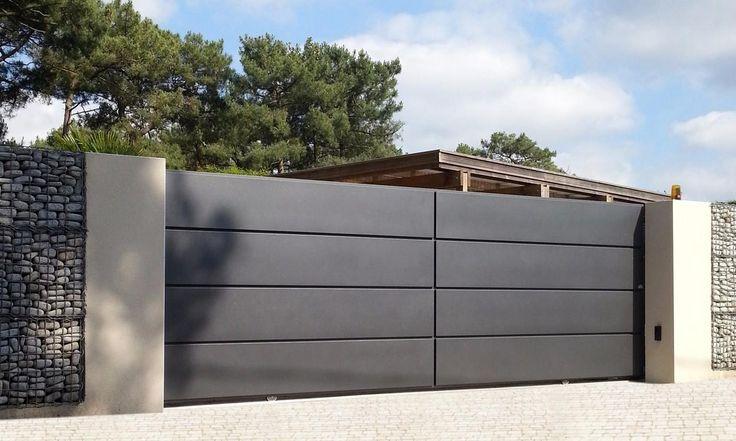 Les 25 meilleures id es de la cat gorie portail coulissant for Portillon de jardin aluminium