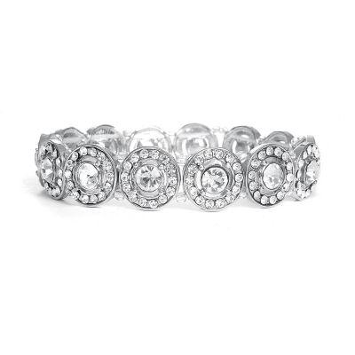 Gwynneth Bridal Bracelet : Elegant Circular-Set Crystal   www.glamadonnashop.com.au
