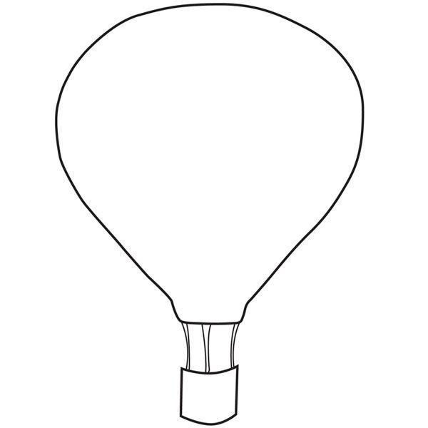 template ~ hot air balloon :)   Crafty Printables & Templates ...