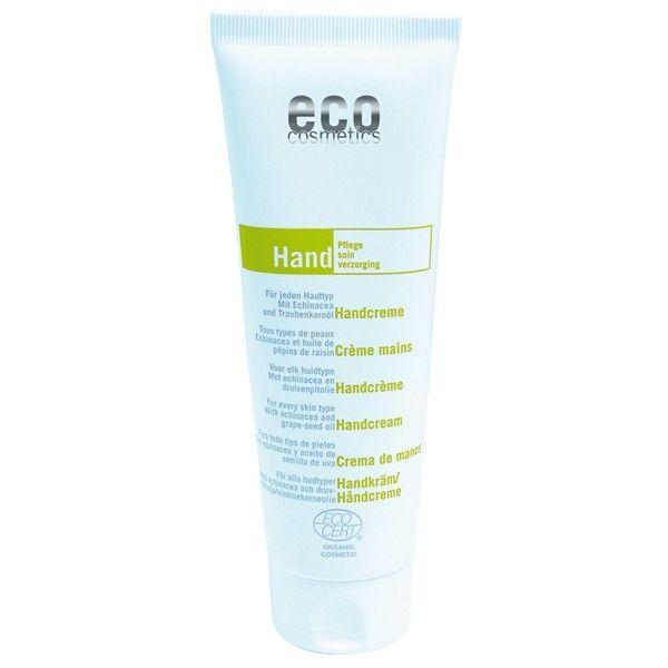 Crema bio pentru maini cu echinacea si ulei de struguri, 125ml, Eco Cosmetics - Sabedoria