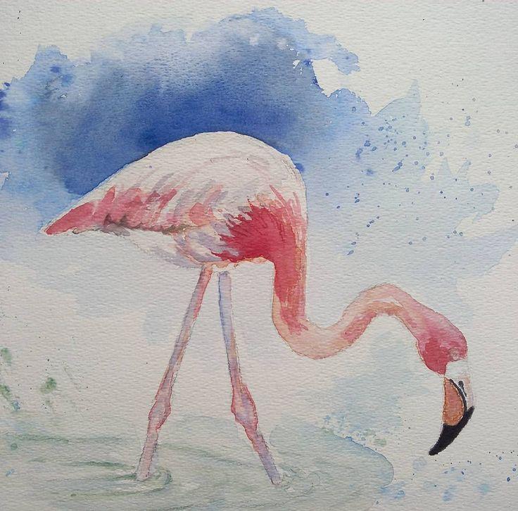 Aquarel flamingo #aquarel #aquarelle #pittura #watercolor #watercolour #watercolours #watercolourart #watercolour_gallery #watercolors #flamingo #flamingos #flamant #flamantrose #fenicottero #flamenco #tropicalbirds #tropical #vogels #birds #birdsofinstagram #birds_of_instagram #art_highlight #art_collective #arts #myart #mywork #forsale #myartwork #insta
