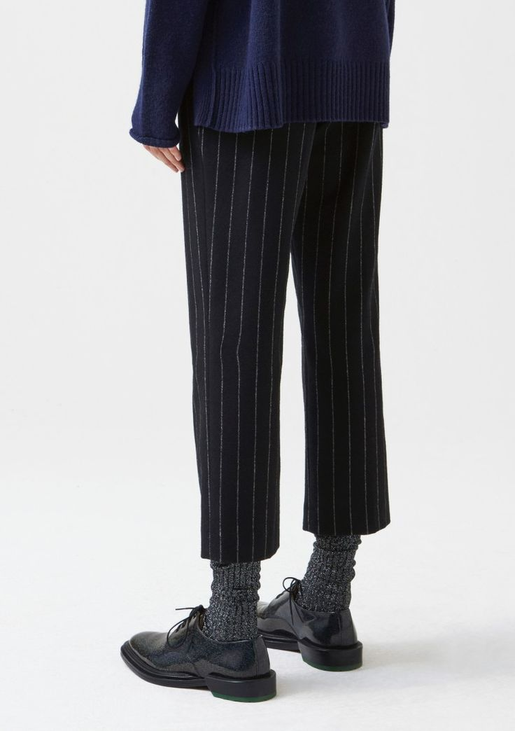 Lobby Trouser - Black Stripe - Trousers & Jeans - Women's Collection - Hope STHLM