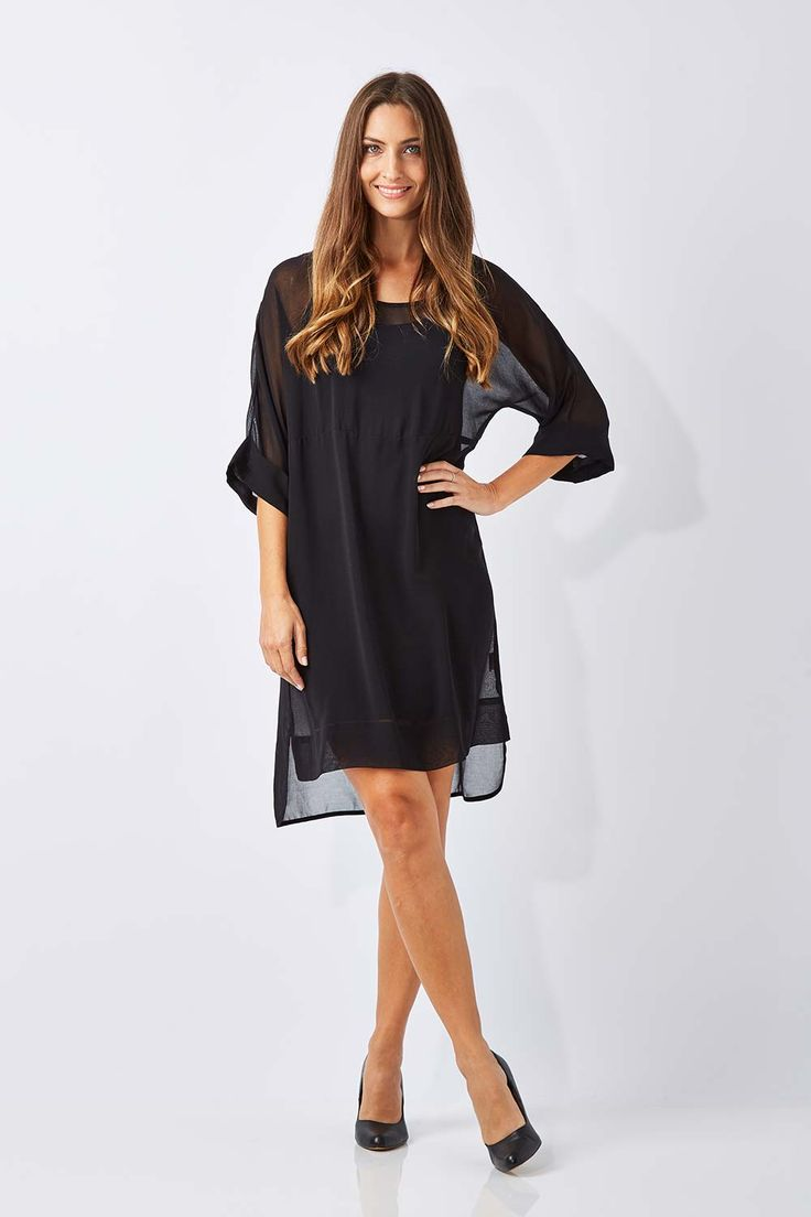 CORDELIA ST - Overlay Chiffon Dress