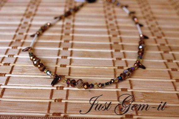 Elegant eathtone necklace by Justgemit on Etsy, $20.00