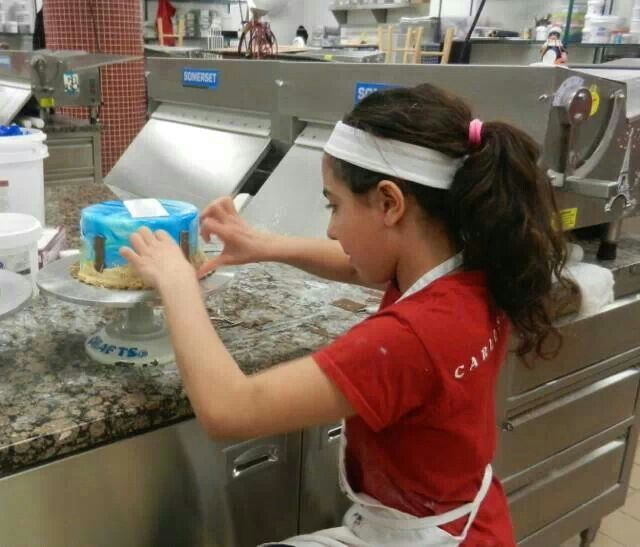 Cake Boss, Sofia Valastro makes a cake while school is out.  Pinned from Buddy Valastro's Facebook page 1-22-14.