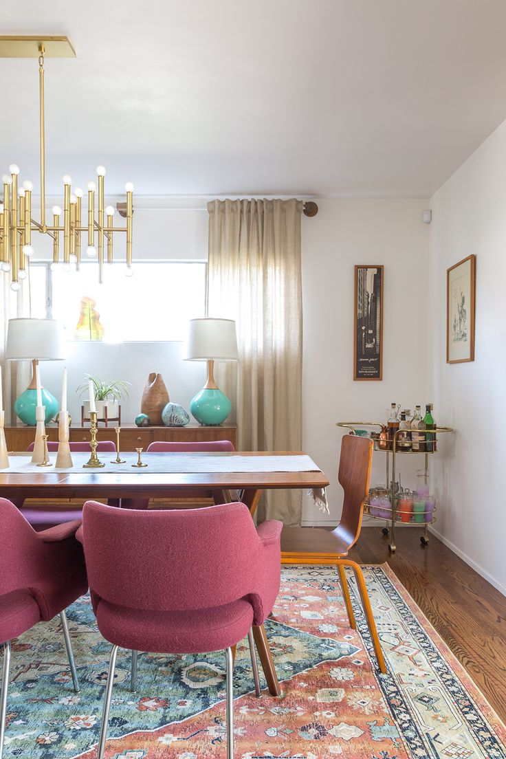 Check out our newly renovated mid century modern dining room reveal. I'm sharing all of my sources and our renovation process for our MCM home.
