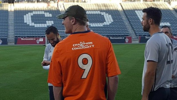 #MLS  Colorado Rapids, Denver Broncos team up for skills and drills competition