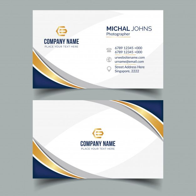 Elegant Business Card Business Card Graphic Business Card