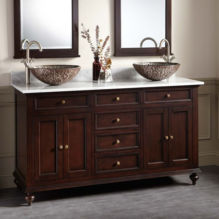double bathroom sink vanity. 60  Keller Mahogany Double Vessel Sink Vanity Dark Espresso Best 25 sink vanity ideas on Pinterest