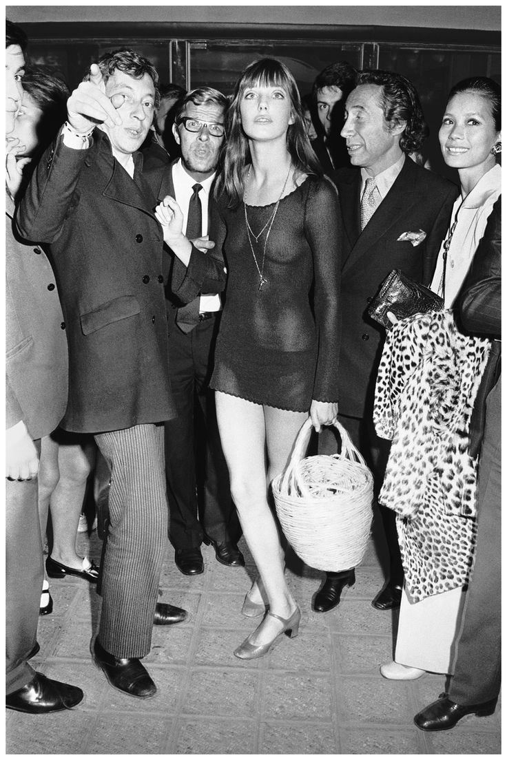 Джейн Биркин на премьере фильма «Слоган», 1969