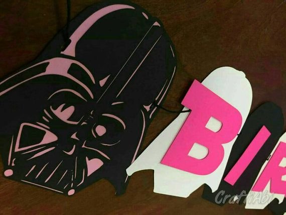 Star Wars party ideas, a star wars birthday party in hot pink and black for a Princess Leia fan, star wars party decorations, star wars party supplies, DIY