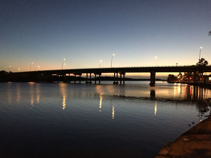 Maroochy river bridge at sunrise