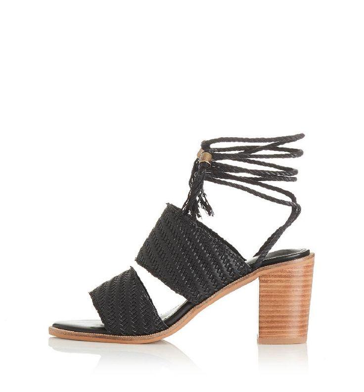 Alias Mae - Bisque Heel - Black Leather