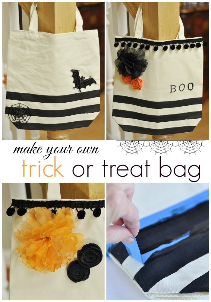 Learn how to make your kids a unique trick or treat bag with this simple tutorial.