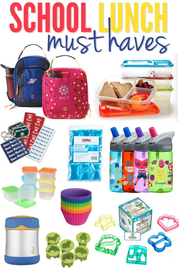 School Lunch Must Haves Ideas Pinterest And Kids For