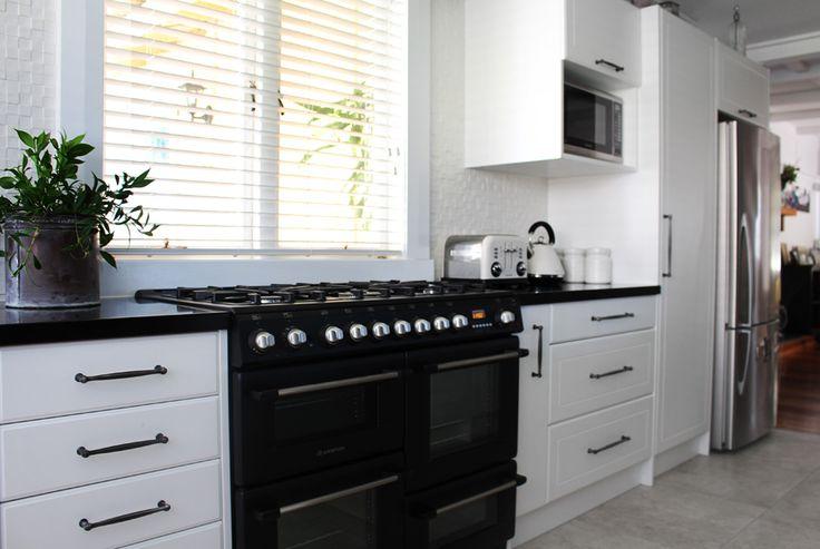 Black and white kitchen. Lou Brown Design.