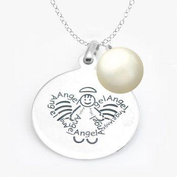 Sweet Angel Sterling Silver Pendant