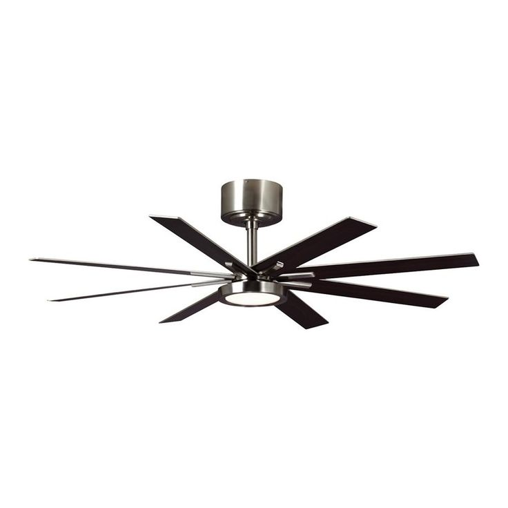 Monte Carlo Fan Company Empire 60-In Brushed Steel Downrod Mount Indoor Ceiling  Fan With Led Light Kit And Remote (8-Bla - 73 Best Lowes Fan Images On Pinterest Ceiling Fans With Lights