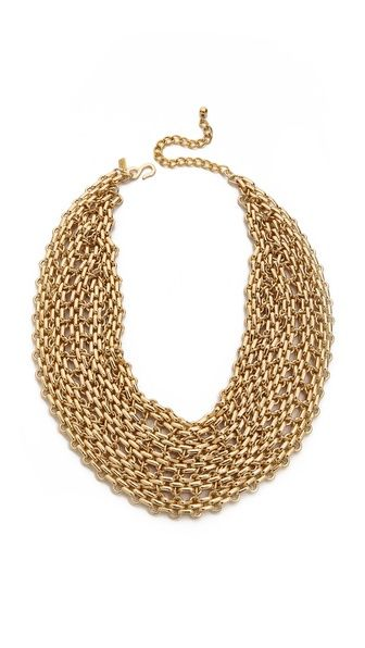Kenneth Jay Lane Chain Bib Necklace