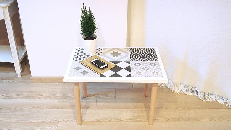 Bonjour les amies, aujourd'hui je vous présente une belle création de Sonia. voici comment utiliser des carreaux de ciment totalement dans la tendance du moment ! Apprenez à réaliser cette splendide petite table. Vous n'êtes pas obligés de fabriquer une table, ce DIY va vous apprendre à utiliser des carreaux de ciment, poser des carreaux...