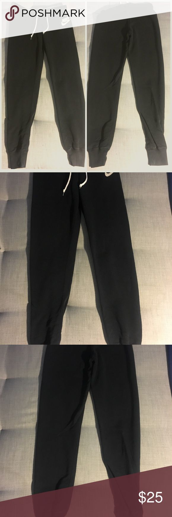 Nike Slim Fit Black Joggers Nike Slim Fit Black Joggers. Accentuates the backside. Great for lounging around or running errands. Nike Pants Track Pants & Joggers