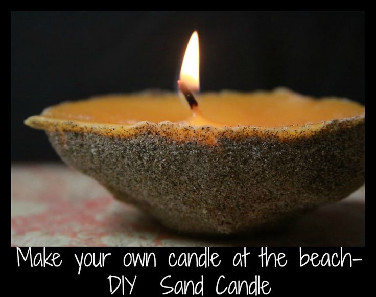 Make your own candle at the beach!  #DIY sand candle!