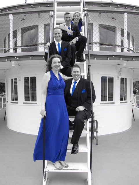 On the stair of the outer deck - onboard the SS Sicamous (Penticton). Photography by Corinne Boback (based in Kelowna, BC)