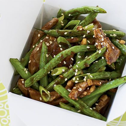 Spicy Green Beans with Pork Recipe - We made this with chicken instead of pork. super yummy