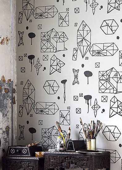 The 10 Coolest Black and White Geometric Wallpapers - YES
