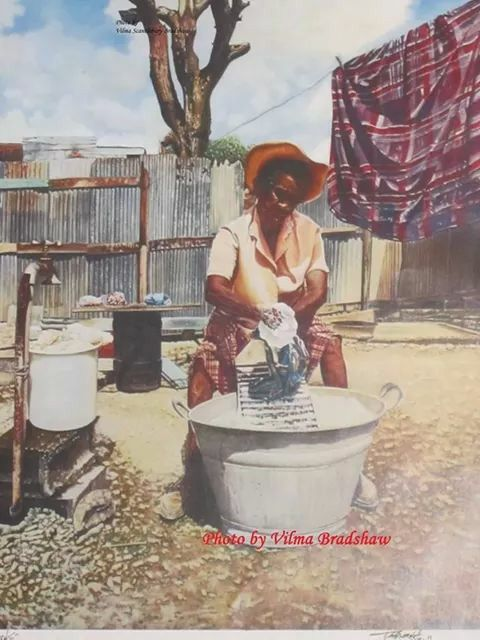 Old style of washing
