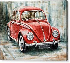 1960 Volkswagen Beetle 2 Canvas Print by Joey Agbayani