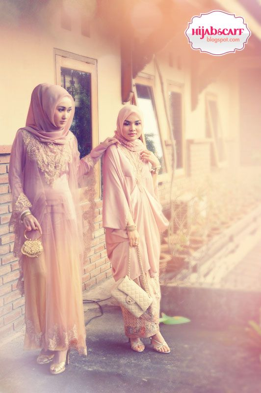Looking ideas what to wear for wedding ocasion. This two dresses simple elegant #HijabStyle