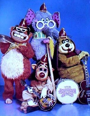 The Banana Splits are four comedic animal characters who featured in a late 1960s children's variety show made for television. The Banana Splits Adventure Hour was an hour-long, packaged television program that featured both live action and animated segments. The series was produced by Hanna-Barbera Productions, and ran for 31 episodes on NBC Saturday mornings, from September 7, 1968 to September 5, 1970.  The series costumes and sets were designed by Sid and Marty Krofft .