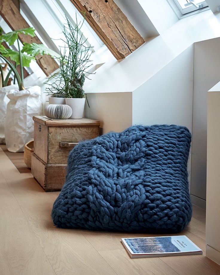 coussin XXL tricot