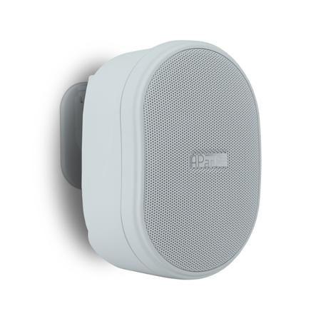 APart Apart OVO3T White  — 3646 руб. —  Компактный настенный громкоговоритель, предназначенный для озвучивания небольших помещений (небольшие офисы, кафе, магазины и др). 16 Ом / 100 В, динамики: 1  ВЧ и 3  СЧ/НЧ, частотный диапазон: 90 Гц - 20 кГц, чувствительность: 86 дБ.