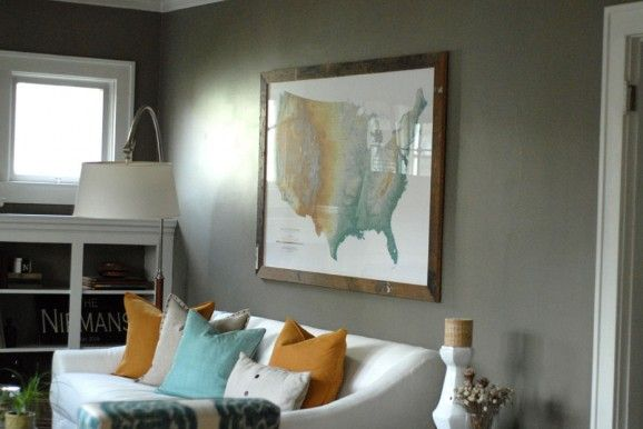 Loving the paint colors used in this home {Shown here: Benjamin Moore's Copley Gray}