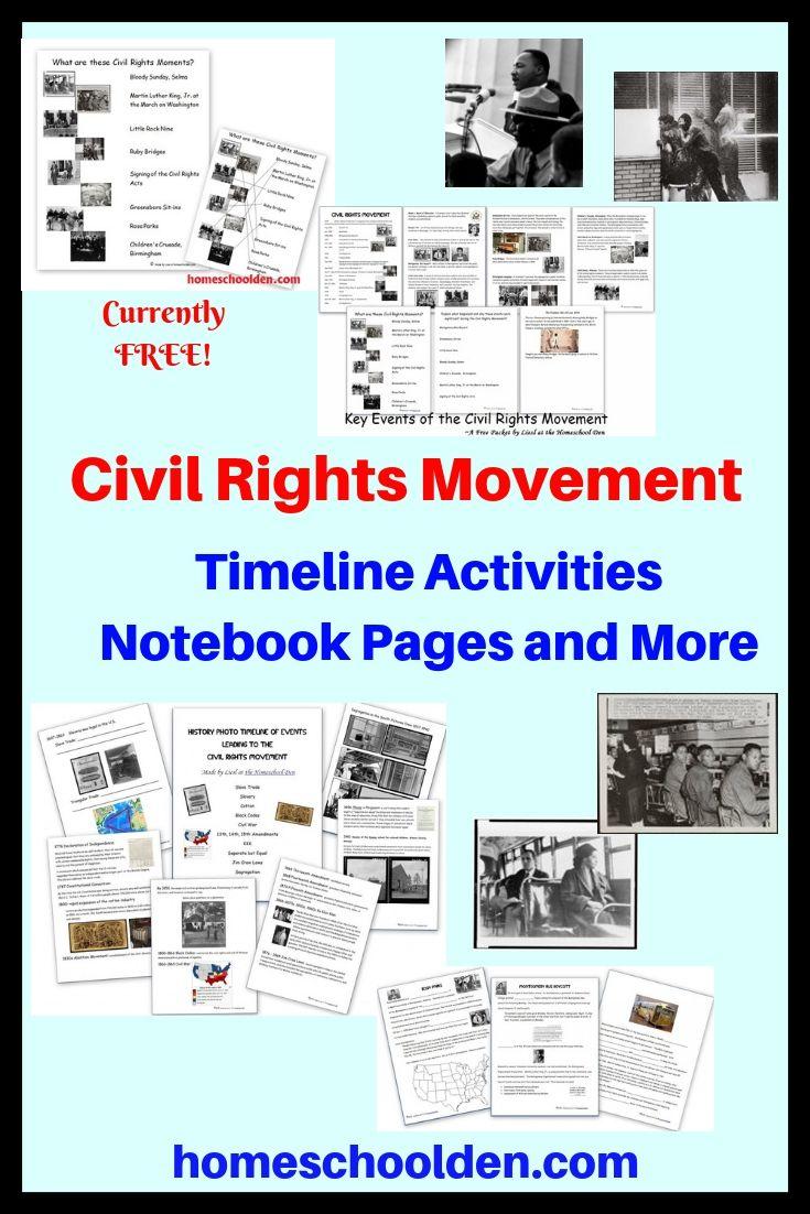 Civil Rights Worksheets [ 1102 x 735 Pixel ]