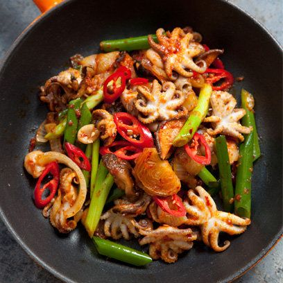 The Hairy Bikers' Fiery Octopus recipe | The Hairy Bikers' Asian Adventure | Recipes | Food | Red Online
