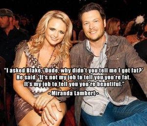 1 Miranda Lambert and Blake Shelton, funny quotes