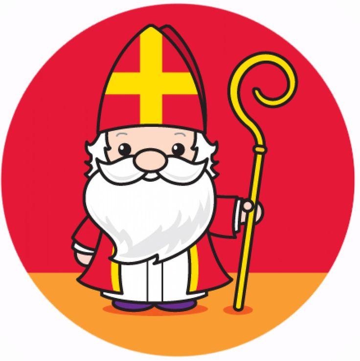 """Sinterklaas en Maatje Piet; Button van onze goede oude baas, """"Sint Nicolaas"""" :-D"""