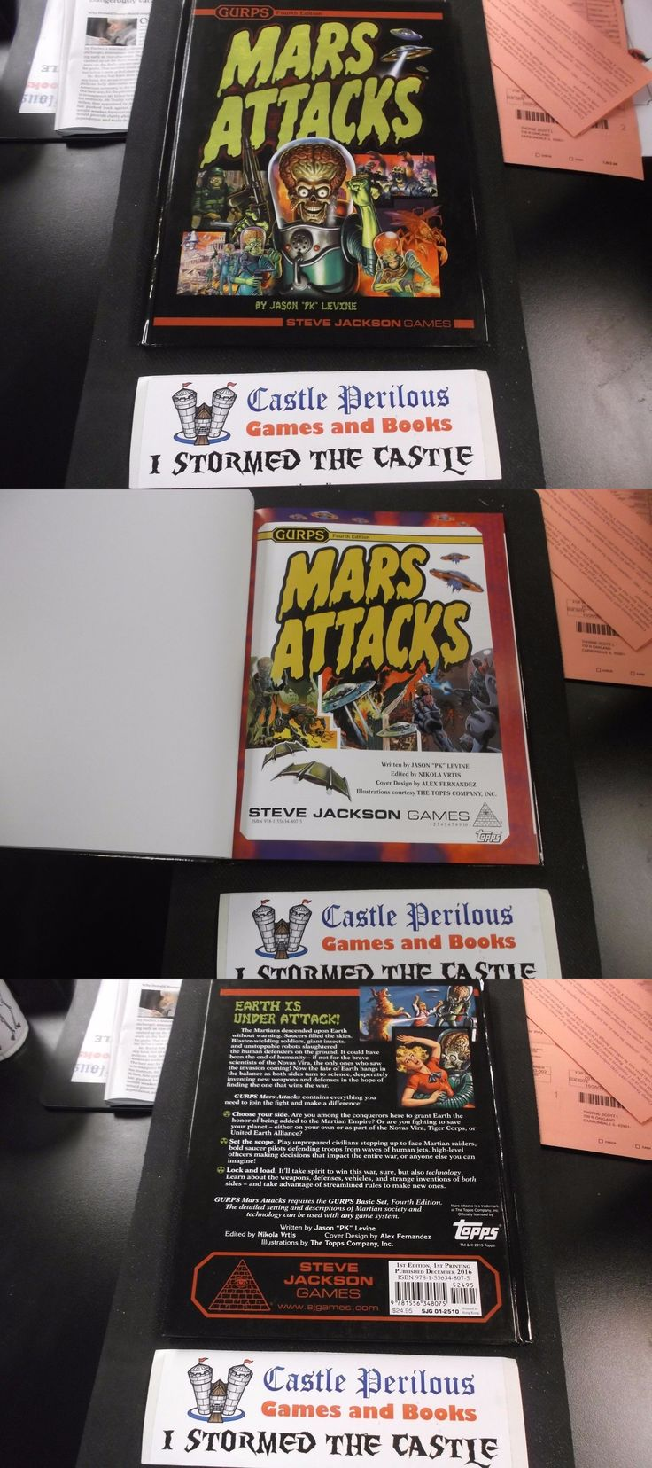 Gurps 168252 gurps 4th edition mars attacks hardback