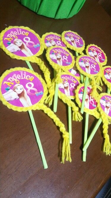 tangled party cake toppers