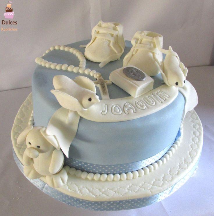 Torta para Bautizo #TortaBautizo #TortasDecoradas #DulcesKaprichos