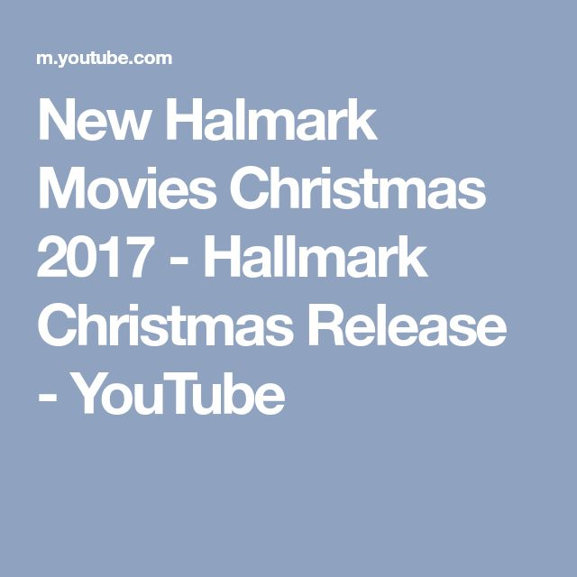 New Halmark Movies Christmas 2017 - Hallmark Christmas Release - YouTube