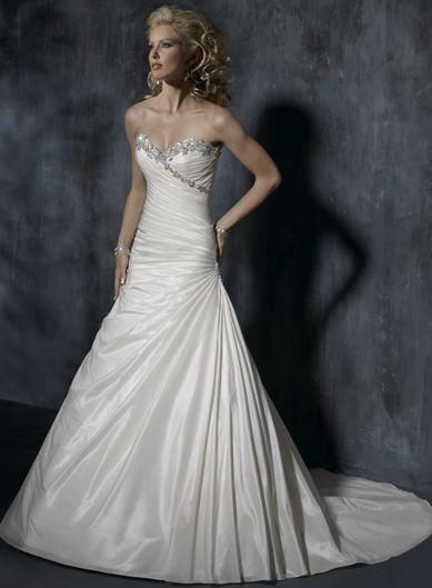 Charming Sleeveless A-line Floor-length wedding dress: Dresses Wedding, Wedding Dressses, Strapless Wedding Dresses, Weddings, Gowns, Floors Length, Sleeveless Wedding Dresses, Lace Dresses, Wedding Dresses Style