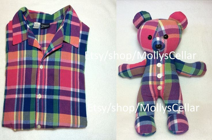 Memory bear made from shirt                                                                                                                                                      More
