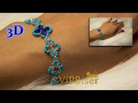 Simple Beaded Bracelet. 3D Beading Tutorial - YouTube