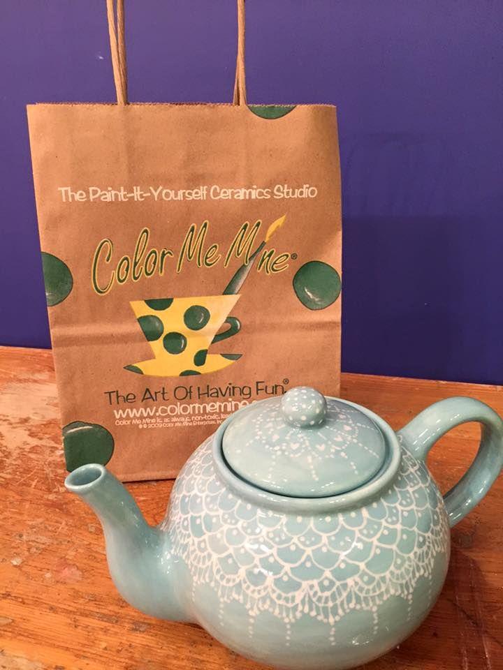 Beautiful Tea Pot Made At Color Me Mine Bethlehem Pa