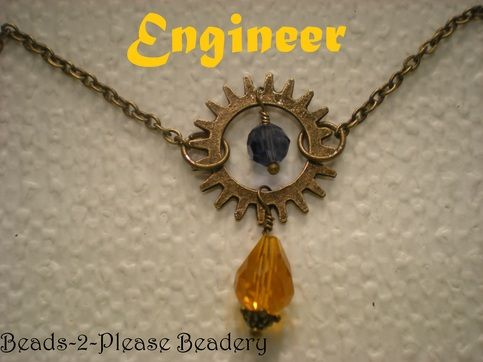 available for purchase here:  http://beads2pleasebeadery.storenvy.com/products/1570368-engineer-guild-wars-2-inspired-necklace