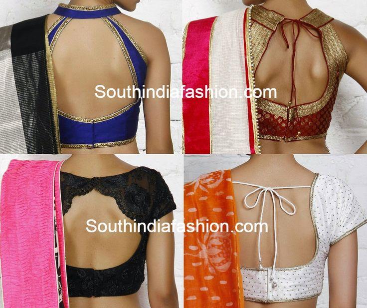 latest saree blouse neck designs